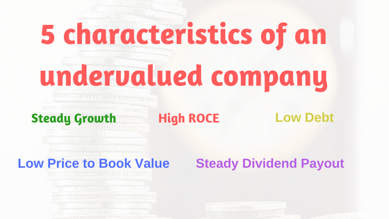 5 characteristics of an undervalued company