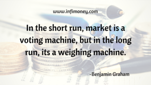 In the short run market is a voting machine but in the long run its a weighing machine