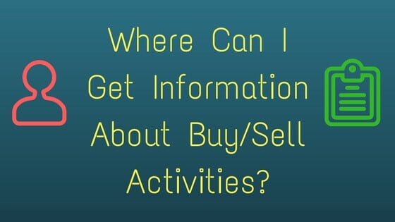 Buy selll activity information Infimoney
