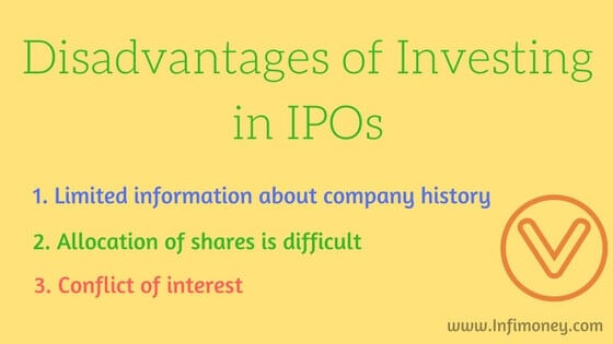 disadvantages of investing in an IPO