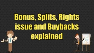 Bonus, splits, rights issue and buybacks explained