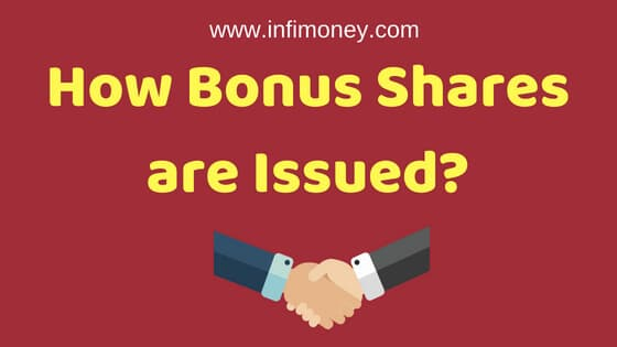 How bonus shares are issued