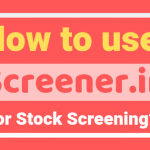 how to use screener.in