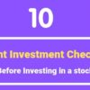 investment checklist